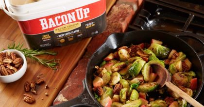 Bacon Up Apple-Pecan Brussels Sprouts