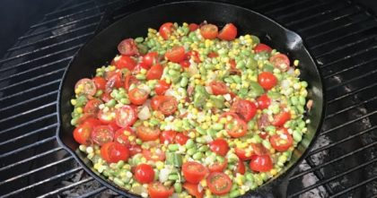 Succotash with Bacon Up