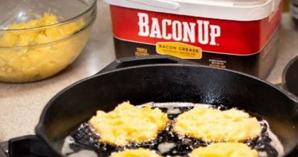 frying with Bacon Up Grease