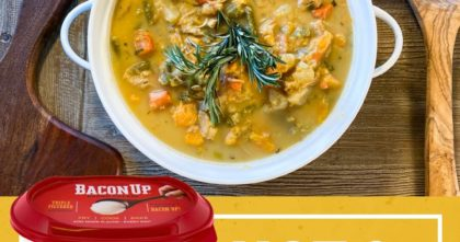 Monica's Chicken Stew Uses Bacon Up to Brown and Sauté