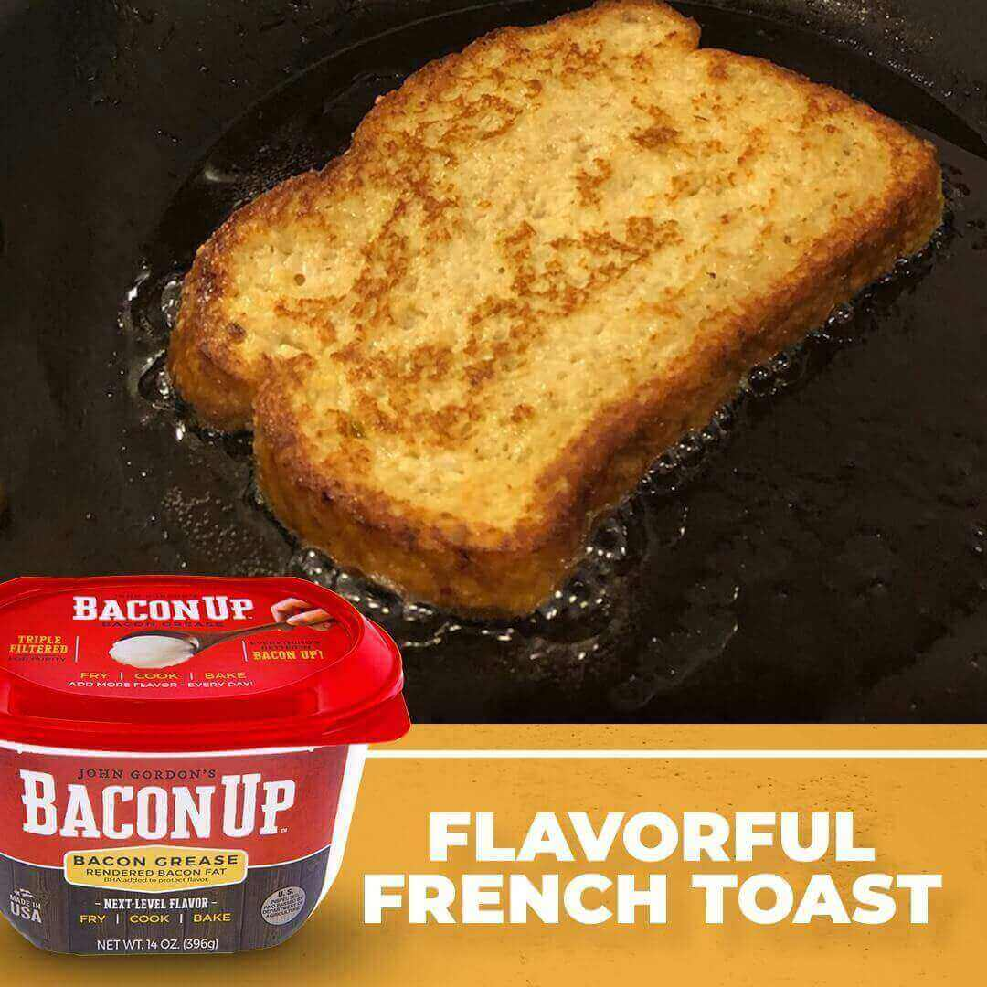 French Toast fried in Bacon Up