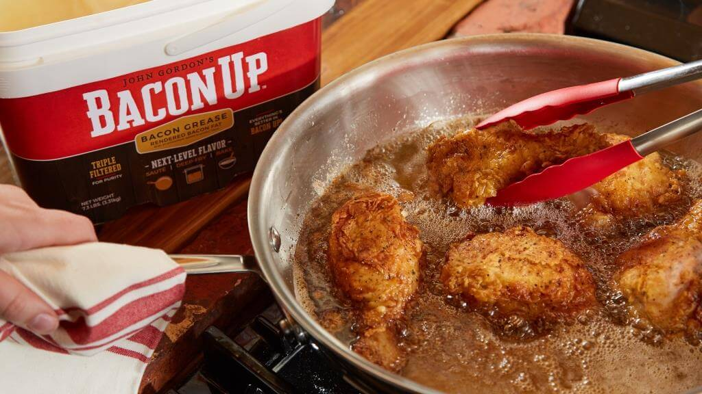 Chicken Fried in Bacon Up® Bacon Grease